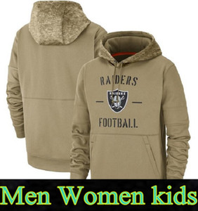 2020 Herren Womens Jugend Oakland Hoodies Raider Sweatshirt Great to Service Sideline Therma Performance Pullover Hoodietan