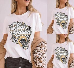 Tshirts de letras y labios Tshirts Moda de manga corta Slim Womens Cuello Top Top Summer Ladies Casual Tee Tee Womens Designer