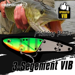 3 Segment Multi Jointed Bait VIB Fishing Lures For Spoon Spinner Crankbait Jigging Bass Pike Trout Metal Swimbait Hard Tackle
