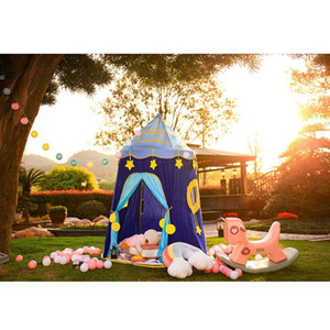 Girls Tunnel Princess Tent Toys Kids Indoor Playhouse Baby Ocean Ball Pit Pool Spaceship Tent Space Little Houses For Girls Gift