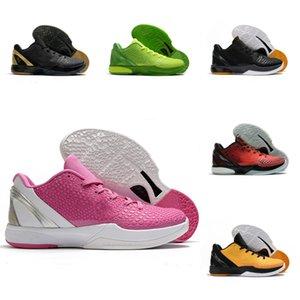 NK KBS 6 S VI Protro Sneaker Grinch Yeşil Elma Volt Crimson Siyah Mamba Ayakkabı Düşünmek Pink All-Star BHM Siyah Del Sol Basketbol Ayakkabı