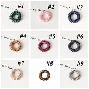 Telefon Tel Saç Bandı Moda Tasarım At Kuyruğu Tutucu Band 9 Renk Elastik Telefon Kordon Hattı Saç Kravat Saç Aksesuarları DWE4706