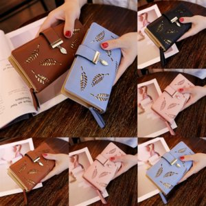 Front Wallet Men Business Man Pu Leather Short Clutch Purse Male Color Trifold galaxy s10 plus Pocket Leaves wallet shell Money #101