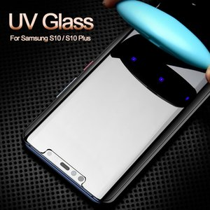UV Liquid Glue 3D Curved Full Cover Tempered Glass Protector For Samsung galaxy NOTE20 S20 Ultra S10 S8 S9 Plus Huawei p40 p30 mate30 pro