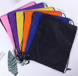 Bolsa de camuflaje con cordón de camuflaje Baloncesto ambos hombros Almacenamiento Nylon Outdoors Bag Polyester Mens Color Sólido Paquete de bolsillo 1 6FM M2