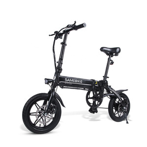 "Smart Folding Bicycle Moped Electric Bike E-bike 14""Aluminum Alloy Frame Mountain Road Bike Foldable Electric Bicycle"