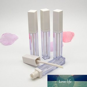 4ml DIY Square Clear Travel Portable Lip Gloss Tubes Empty Makeup Liquid Lipstick Batom Lip Balm Packaging Containers 20pcs lot