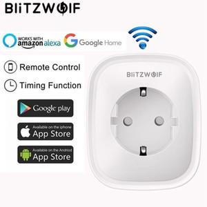 BlitzWolf BW-SHP2 WIFI Smart Socket EU Plug 220V 16A Remote Control Smart Timing Switch Work For Amazon Alexa Google Assistant