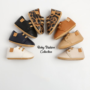 14 Colors Luxury Soft Leather Baby Shoes Newborn Rubber Sole First Walkers Boys Toddler Shoes Infant Girls Anti-slip Prewalkers