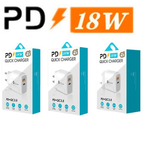 18 W Hızlı Hızlı Şarj QC3.0 PD Tipi C USB Duvar Şarj AB ABD İNGILTERE Fiş iPhone 7 8x11 Samsung LG Android Telefon