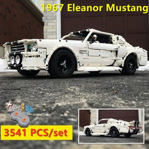 New classic 1967 Ford Eleanor Mustang Racing Car fit lepinings Technic MOC-14616 building block bricks kid toys birthday gift