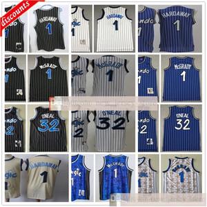 Basketball bon marché Shaquille 32 O'Neal Jersey Meilleure qualité Penny Blanc 1 Tracy Hardaway 1 McGrady Jerseys Bleu Black Man Kids Jeunes