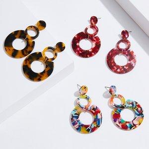 foglio di acetato di vendita calda acrilico orecchini europeo e americano esagerato geometrici multistrato orecchini cerchio donne