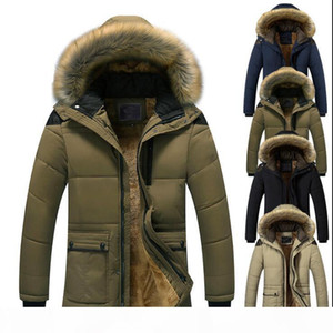 New winter men's hooded cotton padded coat thickened large coat Windproof Parkas Men Solid Parkas casual fashion jacket