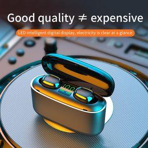 TWS Bluetooth Wireless Earphones 3500mAh LED Headphones G5S Touch Control Sport Headset Noise Cancel Earphone Headphone
