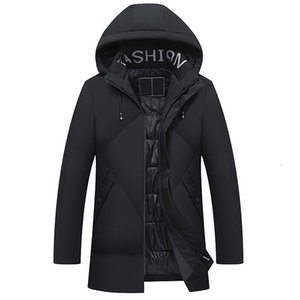Men Clothes 2021 Winter Jacket Men Hooded Cotton-padded Long Parka Jacket Thicken Warm Winter Coat Jackets