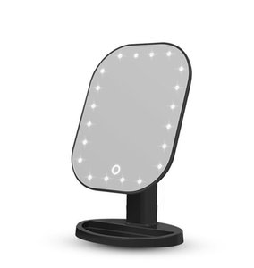 20 LED Touch Screen Makeup Mirror USB Lights Table Vanity Makeup Mirrors 180 Degree Rotation Cosmetic Folding Mirror 3style