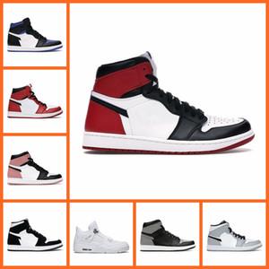 Basketball Chaussures Hommes Femmes Jumpman 1S High Og 1 Obsidian Noir Blanc Blanc Milieu Sumelle Gris 4s Cat Black Cat 4 Hommes Sports Sneakers
