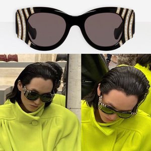 BB0070 size50-22-135 160 pieces of Slovakia rhinestones made of heavy plate butterfly frame large temples designer sunglasses UV400 with box