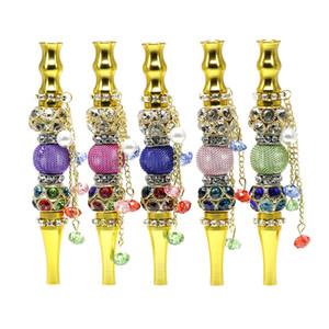Colorful Blunt holder with rhinestones jewelry hookah mouth tips wholesale hookah jewelry metal hookah tips