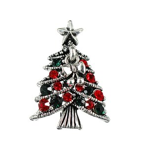 New style personality full drill European and American popular bowknot dress creative Christmas tree high-end Brooch