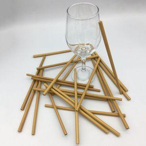 10Pcs Set Natural Bamboo Straw Reusable Drinking Straws With Case + Clean Brush Eco-friendly Bamboo Straws Bar Tools