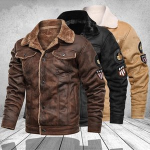 2021 New Mens Jackets Motorcycle Stand Collar Pockets Male Vintage Pu Coats Biker Faux Leather Fashion Outerwear An7w