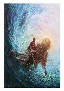5 Yongsung Kim Tanrı'nın El Hand Save Me Sanat HD Cavnas Print Jesus Mesih Yüksek Kaliteli Ev Dekor Duvar Sanatı Yağlıboya Tuval üzerine