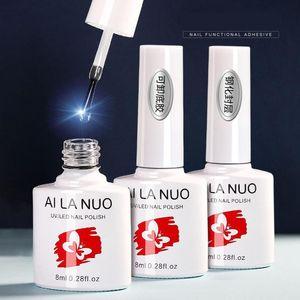 8ml UV Top Base Coat Gel Polish Shiny Matte Sealer Soak Off Reinforce Fur Base Top Coat Varnishes False Nail Art Manicure Gel