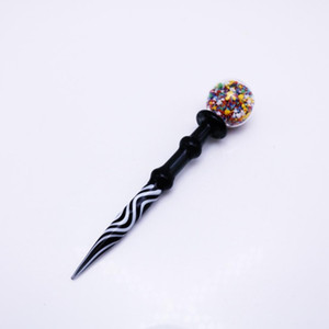 4.9inch Wax Dabber Tool Carb Cap and Wax oil rigs Dab Stick Carving tool for E Nails Dab Nail and Quartz Nails IIF3995