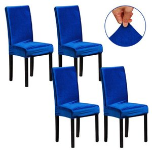 Removable Protective Hotel Chair Cover Solid Home Decor Kitchen Soft Elastic Dining Room Party Wedding Washable Easy Clean