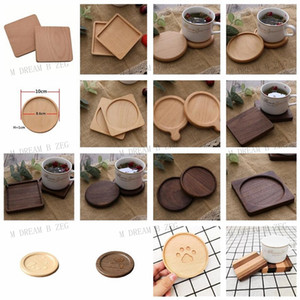 Coasters en bois Noir Noyer Café Tasse Tasse Tapis Tapis en bois Tapis Tapis Tapot Théière Théière Boissons Boiseries Home Bar Outils