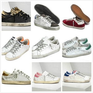 Sneakers Superstar Do-old Sale Sports Chaussures Golden Fashion Hommes Femmes Casual Chaussures Casual Chaussures plats en daim en cuir blanc Grande taille 35-46