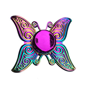 Office Finger Anxiety Relief Stress Fidget Gyro Flower Tower   Spider Metal Hand Tri Spinner Model O0WI