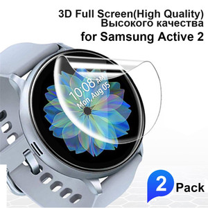 2pcs 3D Full Curved Screen Protector for Samsung Galaxy Watch Active 1 2 Tempered PET Soft Protective for Active2 40mm 44mm