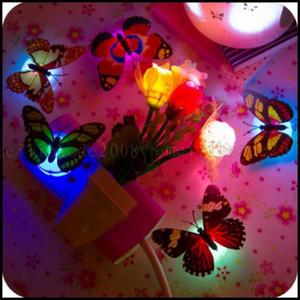 Glazhome Işık Renkli Gece Değiştirme Lambası Kelebek LED Odası Parti Masası Duvar Dekor LLWA1997SVG