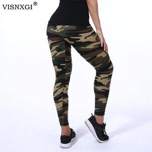 Visnxgi Quality Leggings High Elastic Skinny Camouflage Engelfs Printemps Summer Femmes Femmes Loisirs Jemeging Pants