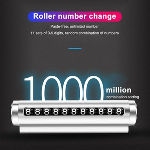 New Universal Car Temporary Parking Card Rotate Phone Number Plate Aluminum Stickers Park Stop In Car Styling Accessories H sqcSad