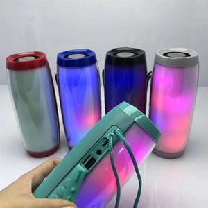 TG157 Portable LED Lamp Speaker Waterproof Fm Radio Wireless Boombox Mini Column Subwoofer Sound Box Mp3 USB Phone Computer Bass DHL
