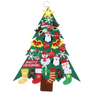 Felt Christmas Tree for Kids 95cm Diy Christmas Tree with Toddlers 32Pcs Ornaments for Children Xmas Gifts Hanging Home Door
