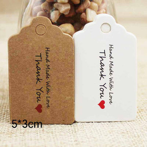 100pcs Lot Kraft Paper Tags DIY Handmade Thank You Multi Style Crafts Hang Tag Wedding Birthday Valentine Gift Wrapping Label HWA2577