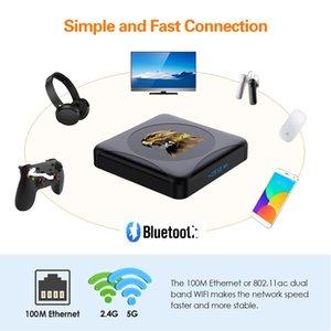 HK1 RBOX R1 MINI Android 10.0 Smart TV BOX Rockchip RK3318 4GB 64GB 2.4G&5G Dual WIFI BT4.0 4K H.265
