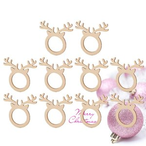 10PCS Wood Creative Antlers Fashion Towel Holder Party Supplies for Banquet Birthday Dinner