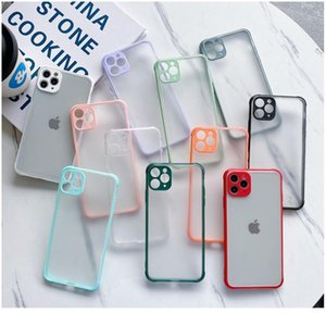 Shockproof Sile Phone Case For Iphone Se2 Xr Xs Max 7 8 6s Plus X Matte Soft Frame Hard Pc C bbyZKD