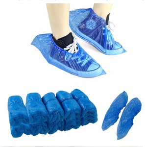 DHL Plastic Waterproof Disposable Shoe Covers Rain Day Carpet Floor Protector Blue Cleaning Shoe Cover Overshoes For Home