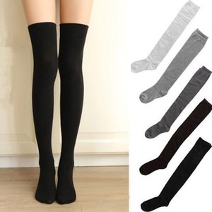 Hot Sale Long Half Over Knee Thigh High Ladies Girls School Sexy Stocking Knee Socks For Woman