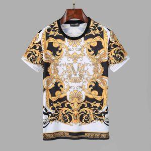 Yeni Erkek Tasarımcı Marka T-Shirt O Yaka Kadın Kısa Kollu Paris İtalya Marka 3D Baskı Yüksek Kalite 100% Pamuk Üst Tees 5694