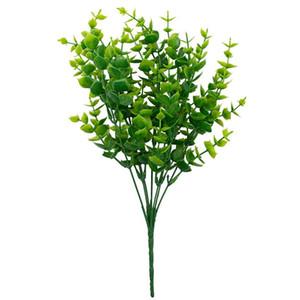 Artificial Boxwood Stems Greenery hastes artificiais plantas artificiais resistentes ao ar livre plantas falsas para quinta casa jardim Casamento Pati KKB306