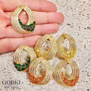 GODKI New Korean Style Cute Waterdrop Stud Earrings For Women 2020 New Fashion Sweet Earrings Femme Brinco Wholesale Jewelry1