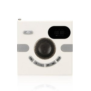 Multi-Function Wall o Wall-Mounted Speaker FM Radio Headphone Jack Support Auxiliary o Remote Remote Wall